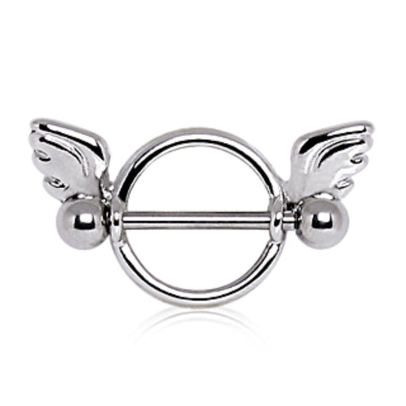 316L Surgical Steel Winged Circular Nipple Ring-WildKlass Jewelry