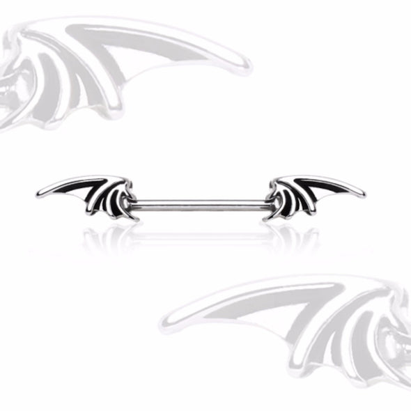 316L Surgical Steel WildKlass Wings Nipple Barbell-WildKlass Jewelry