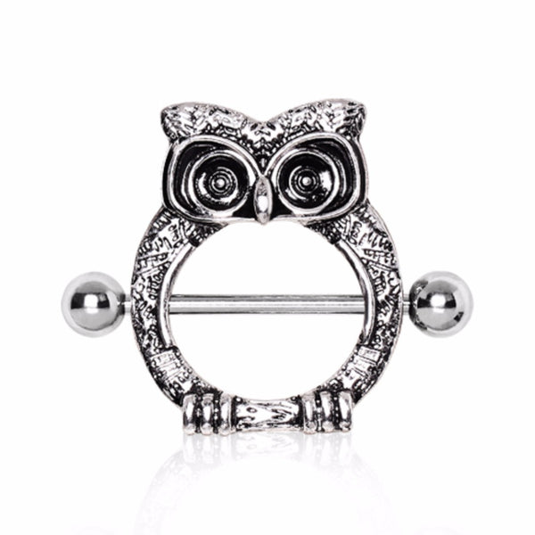 316L Surgical Steel Owl Nipple Shield-WildKlass Jewelry