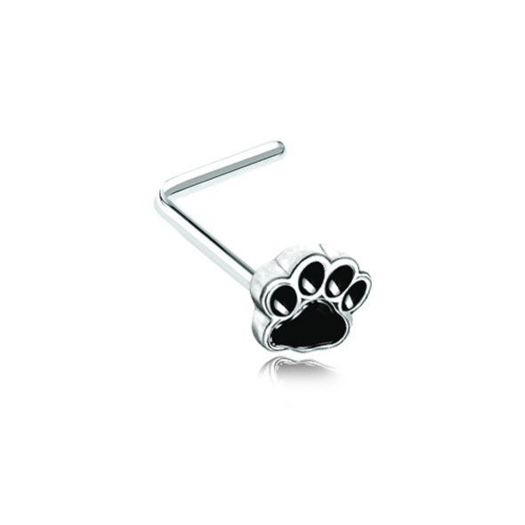 Animal Lover Paw Print WildKlass WildKlass L-Shape Nose Ring-WildKlass Jewelry