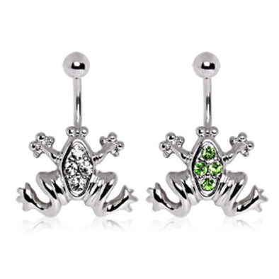 316L Surgical Steel Jumping Frog Navel Ring-WildKlass Jewelry