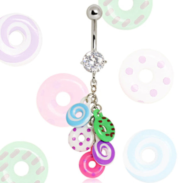 316L Surgical Steel Donuts Navel Ring-WildKlass Jewelry