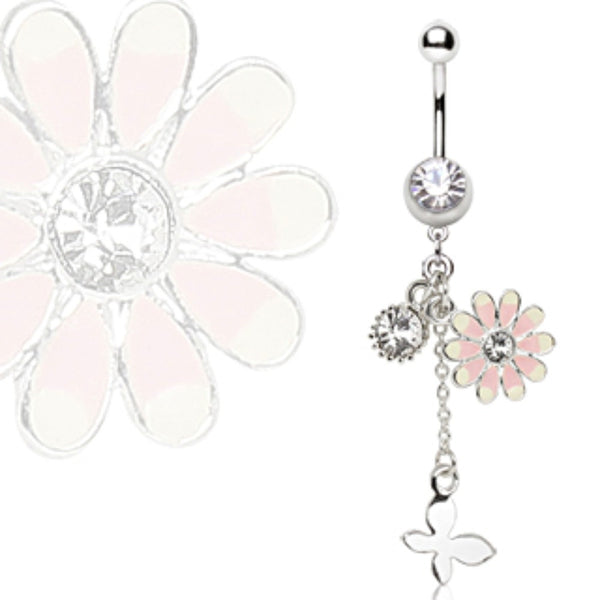 316L Surgical Steel Flower-WildKlass Jewelry