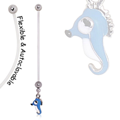 BioFlex Seahorse Pregnancy Navel Ring-WildKlass Jewelry