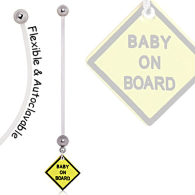 BioFlex Baby On Board Sign Pregnancy Navel Ring-WildKlass Jewelry