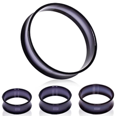 UV Acrylic Thin-Walled Black Tunnel Plug-WildKlass Jewelry