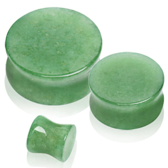Natural Jade Semi-Precious Stone Saddle Plug-WildKlass Jewelry