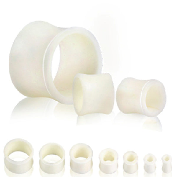 White Buffalo Bone Flesh Tunnel Plug-WildKlass Jewelry
