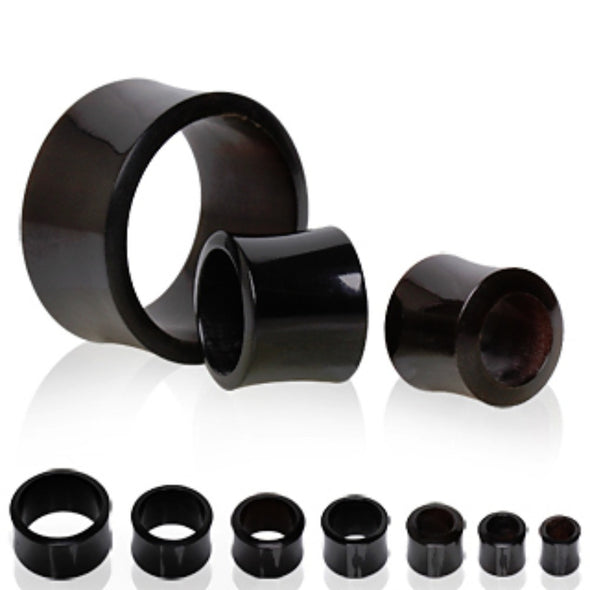 Black Buffalo Horn Flesh Tunnel Plug-WildKlass Jewelry