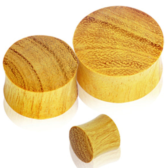 Organic Jackfruit Wood Saddle Plug-WildKlass Jewelry