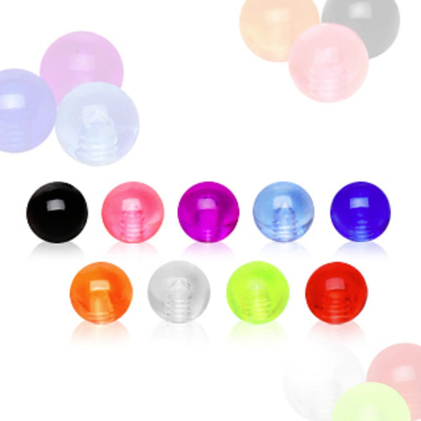 10pcs UV Coated Acrylic Ball Package-WildKlass Jewelry
