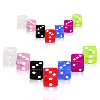 10pcs UV Coated Acrylic Dice Ball Package-WildKlass Jewelry