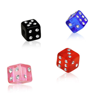 10pcs UV Coated Acrylic Gemmed Dice Ball Package-WildKlass Jewelry