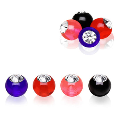 10pcs UV Coated Acrylic Gemmed Ball Package-WildKlass Jewelry