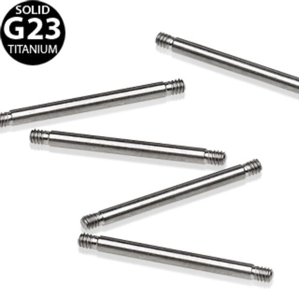 10 Pcs Grade 23 Titanium Barbell Shaft Package-WildKlass Jewelry