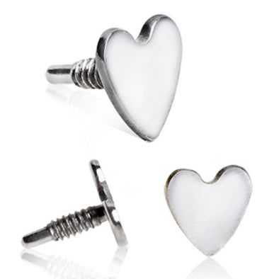 316L Surgical Steel Externally Threaded Heart for Internally Threaded Labret-WildKlass Jewelry