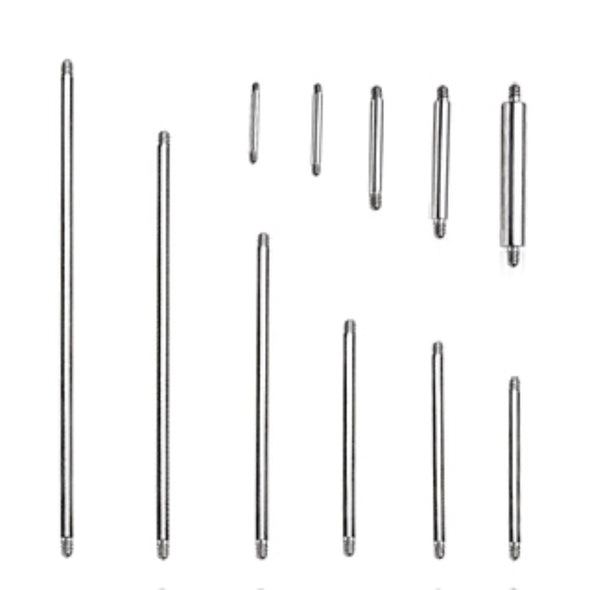 10pcs Package of 316L Surgical Steel Straight Threaded Bars-WildKlass Jewelry