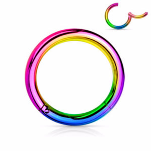 316L Surgical Steel Color Hinged Seamless Clicker Septum Ring 20g 18g 16g 14g 12g 10g-WildKlass Jewelry