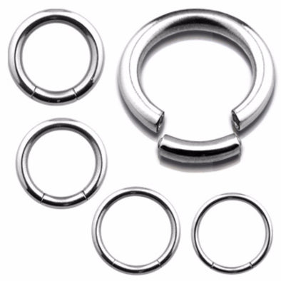 316L Surgical Steel Circular Segment Ring-WildKlass Jewelry