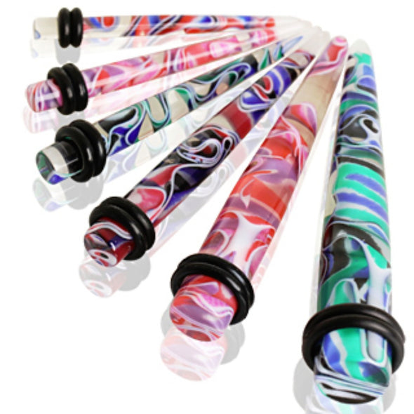 UV Acrylic Multi Color Marble Taper-WildKlass Jewelry