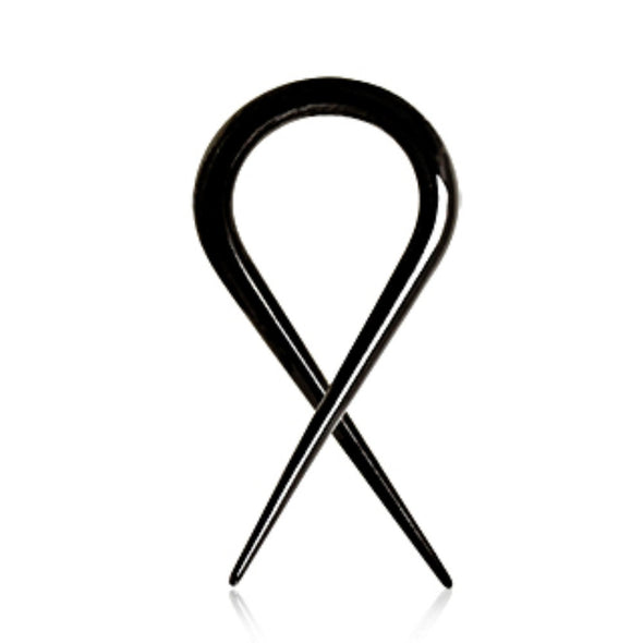 Black PVD Plated Twisted Taper-WildKlass Jewelry