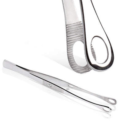 Stainless Steel Mini Donnington Piercing Tweezer-WildKlass Jewelry
