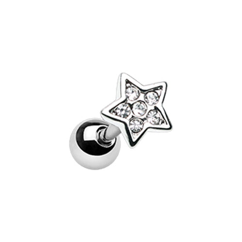 Silver & Gold Twinkling Star Cartilage Tragus Earring-WildKlass Jewelry
