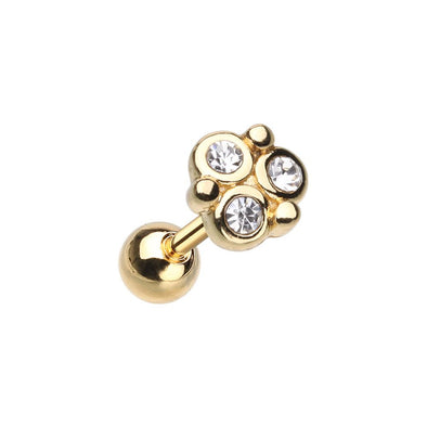 WILDKLASS Golden Crop Circles Cartilage Tragus Earring-WildKlass Jewelry