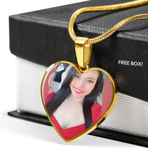 Customized Photo & Engraved Luxury Heart Necklace-WildKlass Jewelry