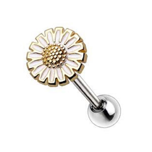 WILDKLASS Gold Plated Wild Yellow Daisy Cartilage Earring-WildKlass Jewelry