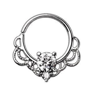 WILDKLASS 316L Stainless Steel Made for Royalty Ornate Seamless Ring-WildKlass Jewelry