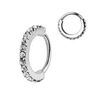 WILDKLASS 316L Stainless Steel Multi-Jeweled Annealed Seamless Ring-WildKlass Jewelry