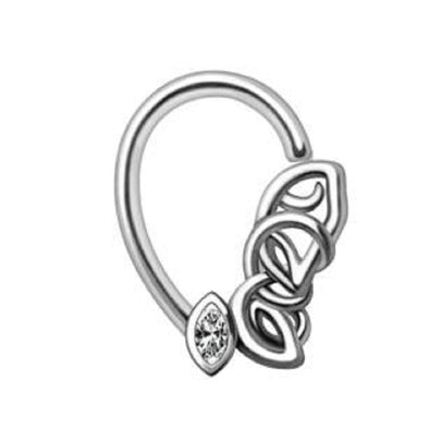 316L Stainless Steel Chained Teardrop Seamless Ring-WildKlass Jewelry