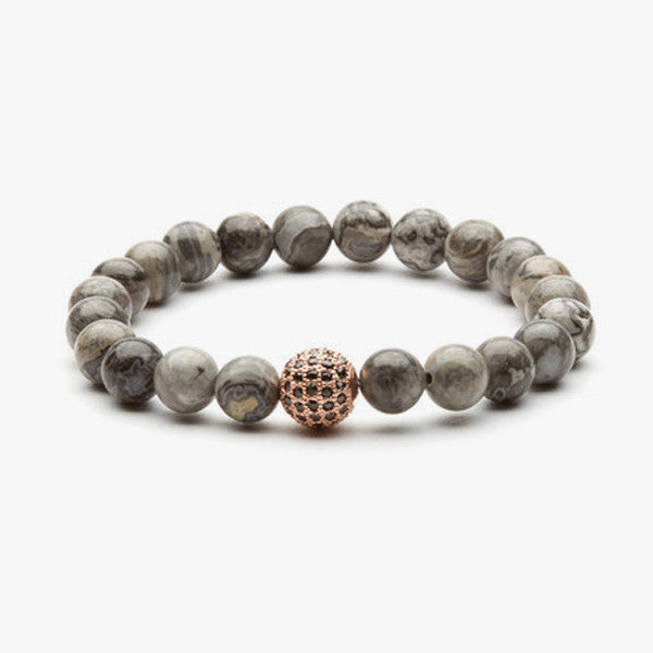 Jackpot Bracelet // Rose Gold + Grey