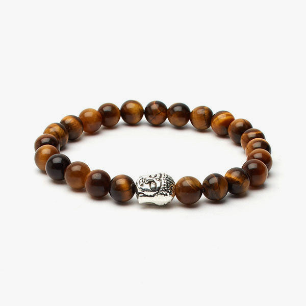 Tiger's Eye Buddha Bracelet // Brown