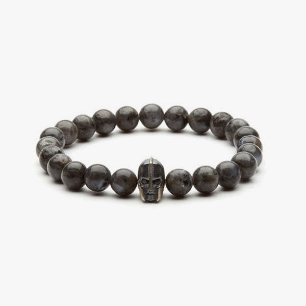 Warrior Charm Bracelet // Silver + Anthracite