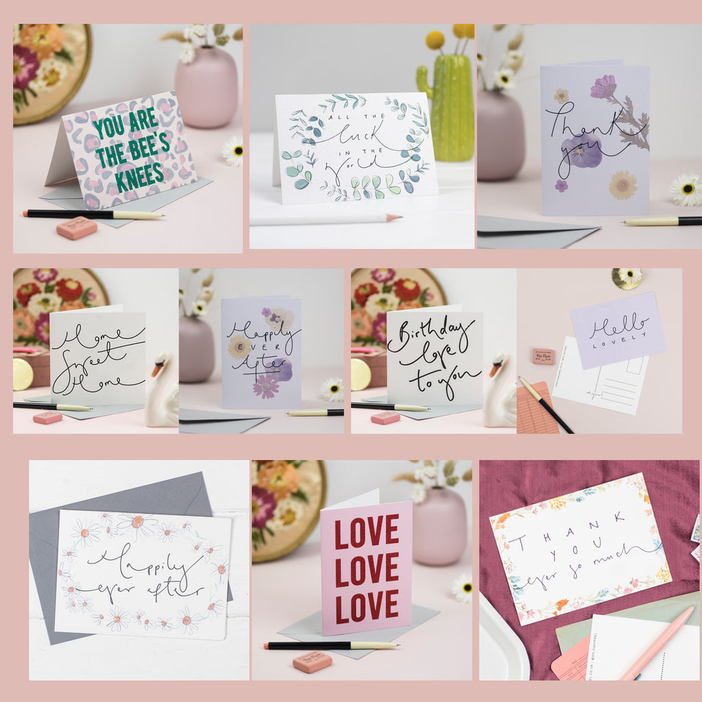 Bumper Greetings Selection - Set of 20 Mixed General Cards + Postcards
