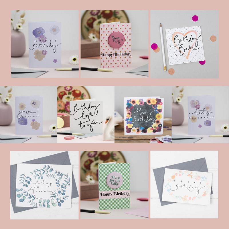Birthday Collection - Set of 10 Birthday Cards
