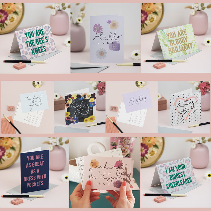 Just Saying Hello - Set of 10 General Cards + Postcards