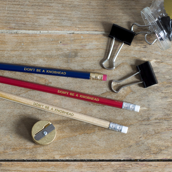Don't Be a Knobhead - Pack of 3 Jolly Good Pencils
