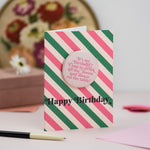 'It's My Birthday... Dance on the Table' Birthday Badge Card