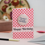 'Woohoo! It's My Birthday!' Birthday Badge Card