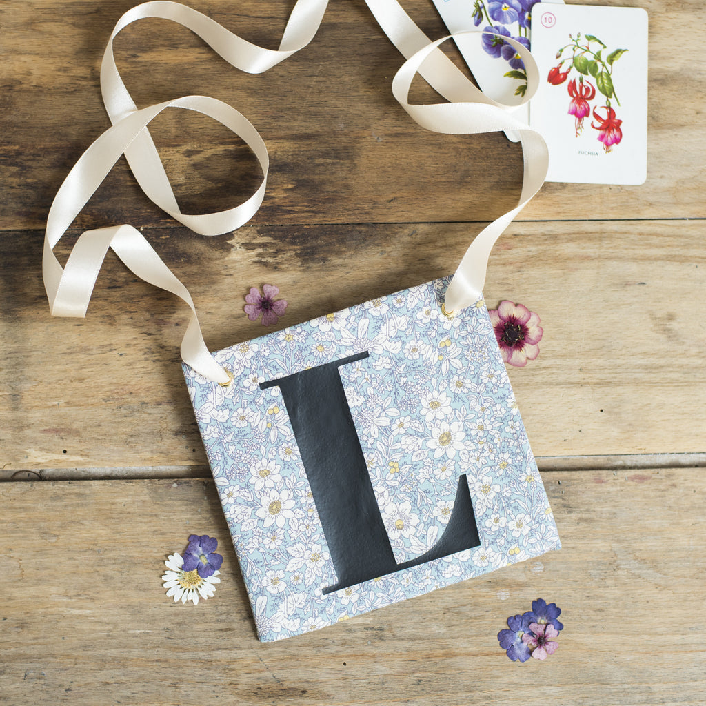 Beautiful Blue Floral Hen Party L Plate