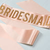 'Bridesmaid' Gold Glitter Print Bold Ribbon Hen Party Sash - other wording options available
