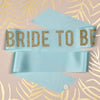 'Bride to Be' Gold Glitter Print Bold Ribbon Hen Party Sash