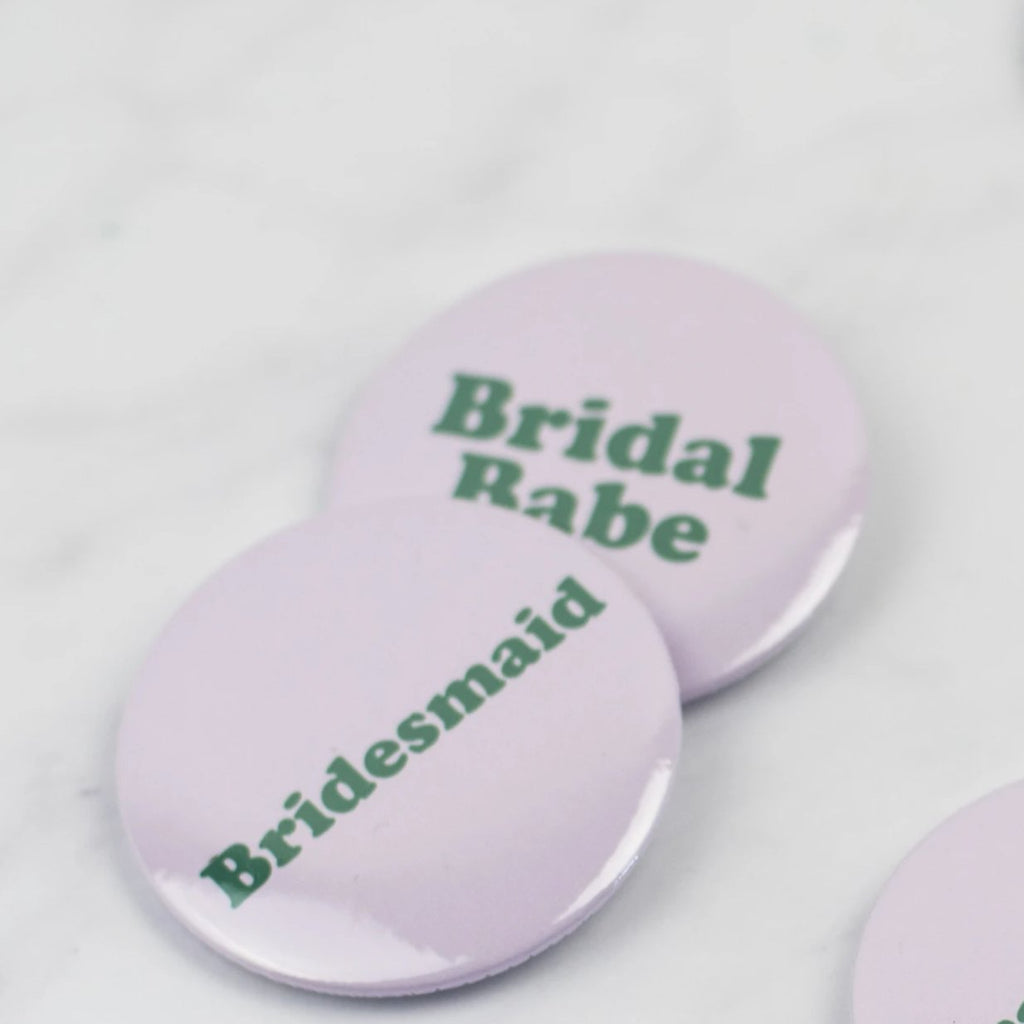 Simple Bridal Party 'Bridesmaid' Party Badges