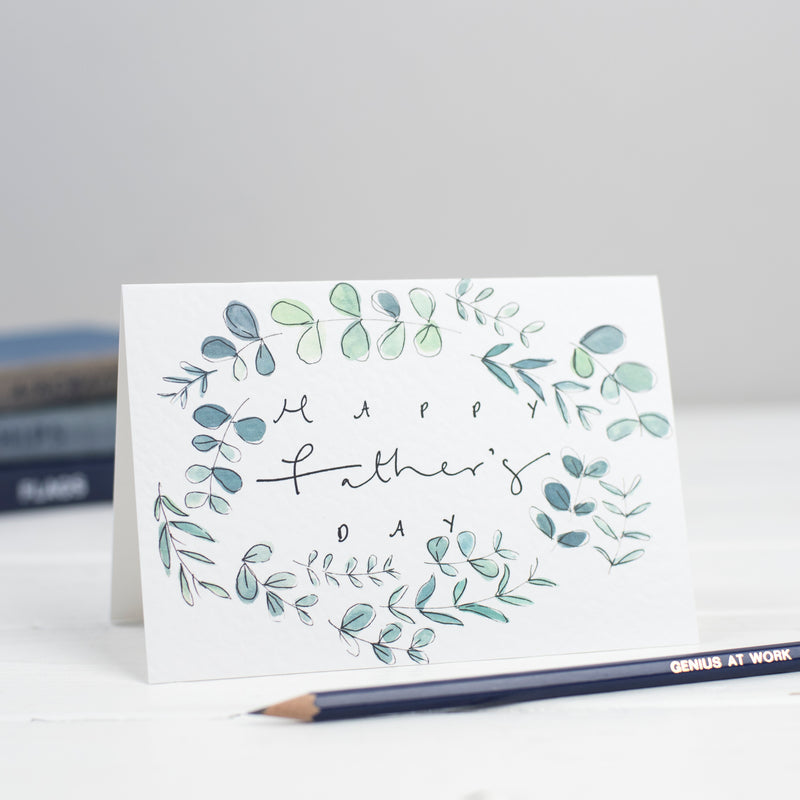 'Happy Father's Day' Botanical Border Card