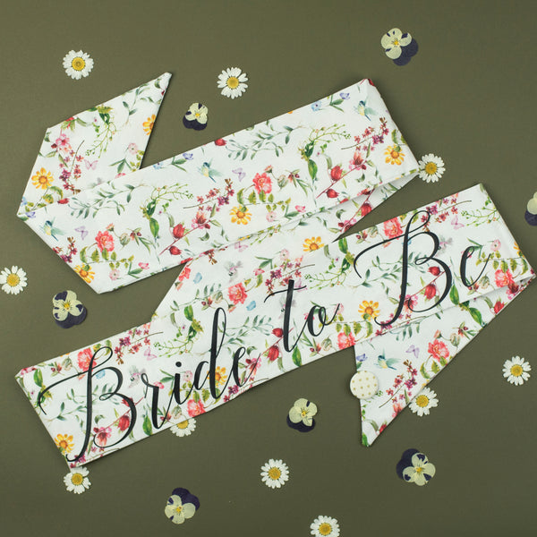 Fantastically Floral Personalised Hen Party Sash