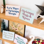 Pack of Mixed Design Glitter Christmas Cards - Biodegradable Glitter
