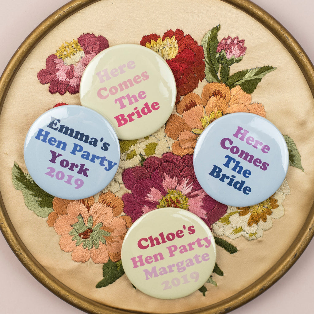 NEW Ombre Brights Personalised Hen Party Badges